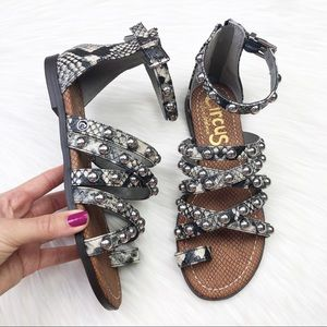 New Sam Edelman Carla Snake Gladiator Sandals